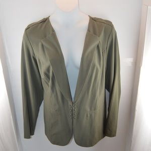 Stoosh Military Inspired Army Green Blazer